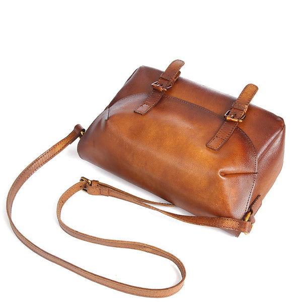 Cool Womens Brown Leather Satchel Bag Crossbody Bags Purse for Women