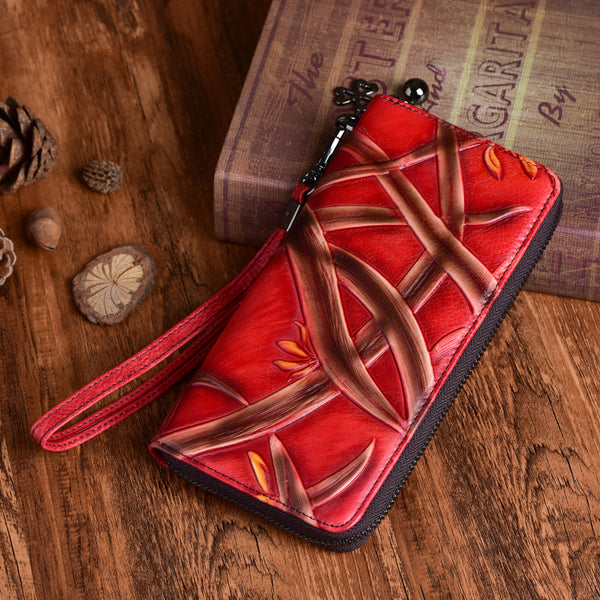 Cool Womens Genuine Leather Clutch Wallet Purse With Card Holder For Ladies Beautiful