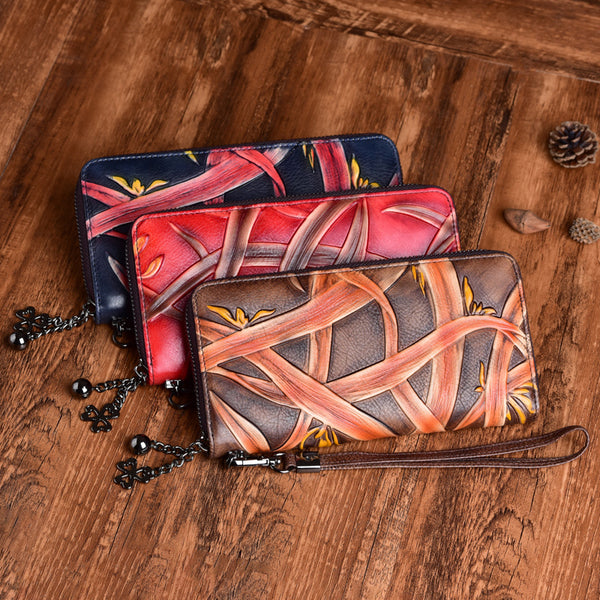 Cool Womens Genuine Leather Clutch Wallet Purse With Card Holder For Ladies Chic