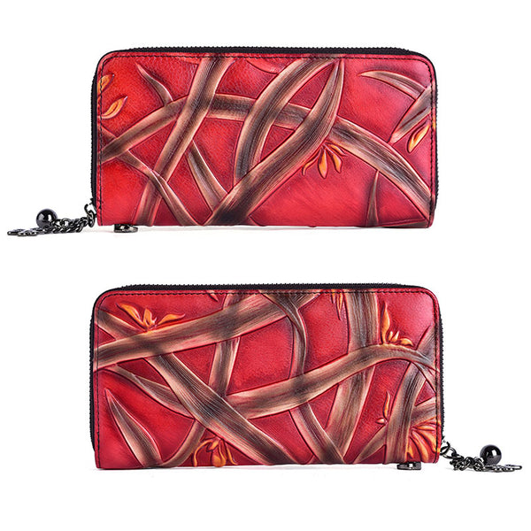 Cool Womens Genuine Leather Clutch Wallet Purse With Card Holder For Ladies Cool
