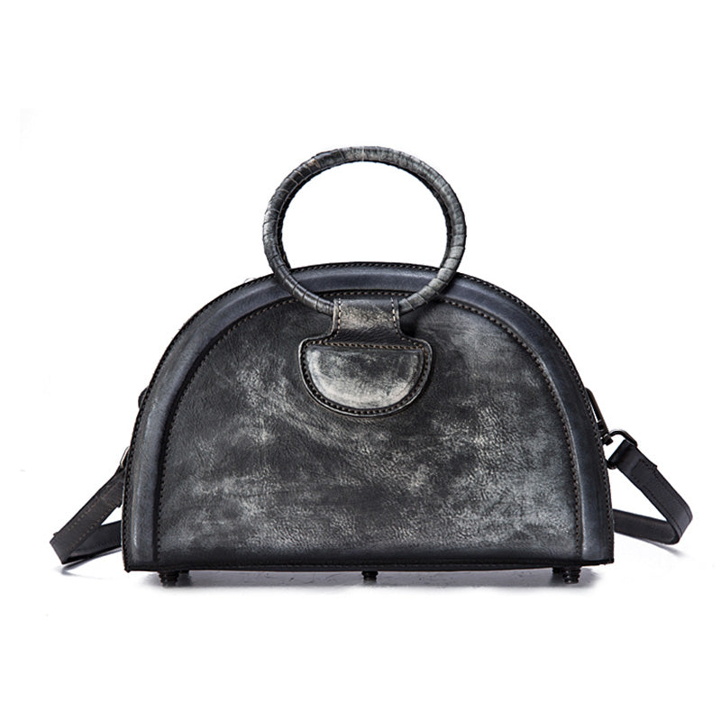 Cool Womens Half-Round Bag Leather Crossbody Bags