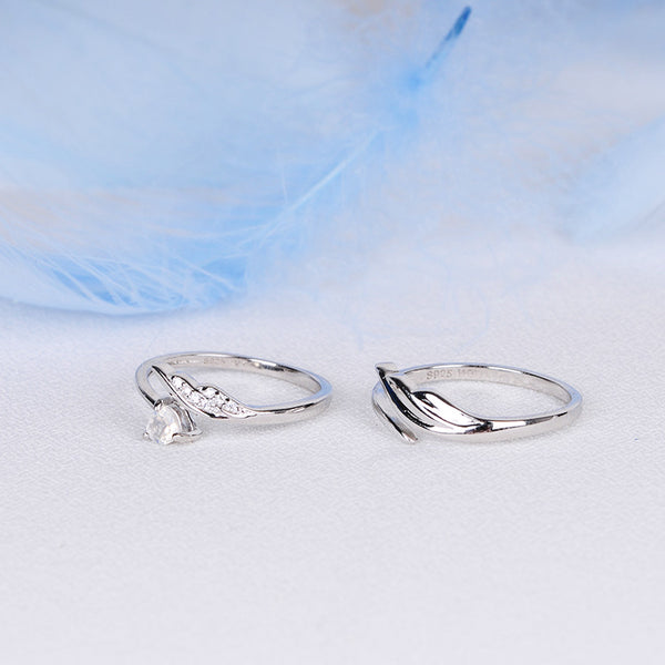 Couple Jewelry Moonstone Ring Silver Engage Ring Men Women chic