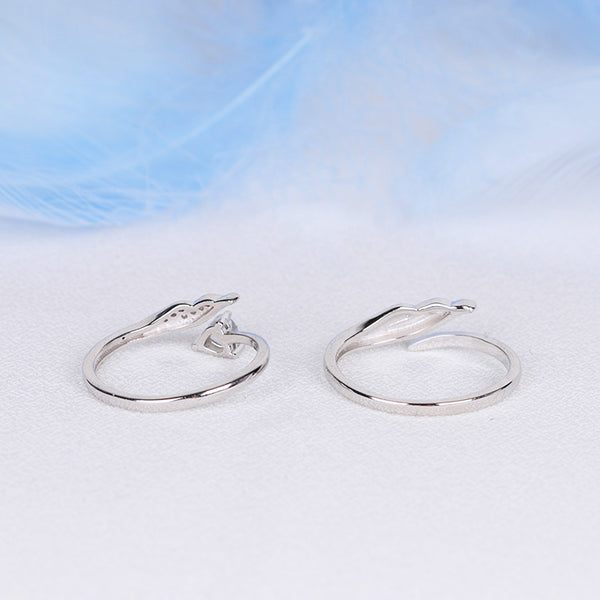 Couple Jewelry Moonstone Ring Silver Engage Ring Men Women beautiful
