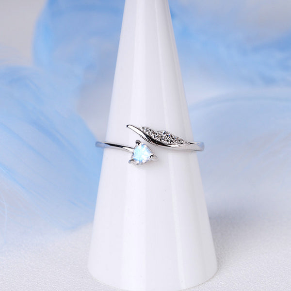Couple Jewelry Moonstone Ring Silver Engage Ring Men Women