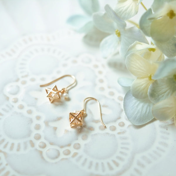 Crystal Pearl Hook Earrings Gold Jewelry Accessories Women Unique