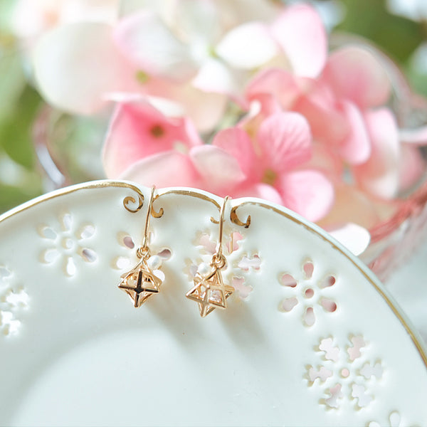 Crystal Pearl Hook Earrings Gold Jewelry Accessories Women elegant