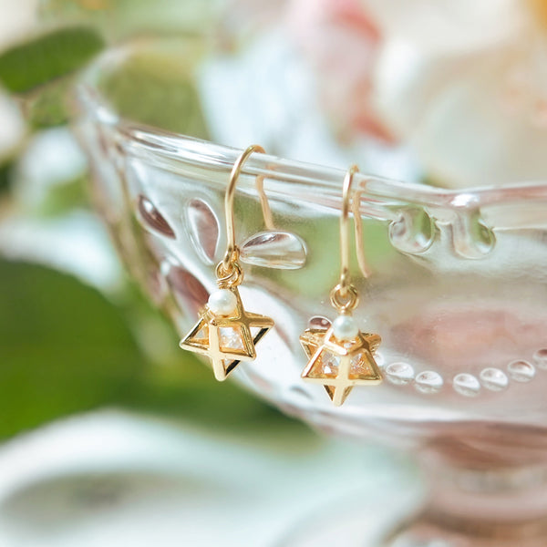 Crystal Pearl Hook Earrings Gold Jewelry Accessories Women
