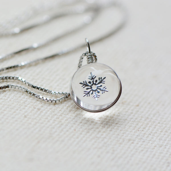 Crystal Pendant Necklace Silver Unique Handmade Jewelry Women gift
