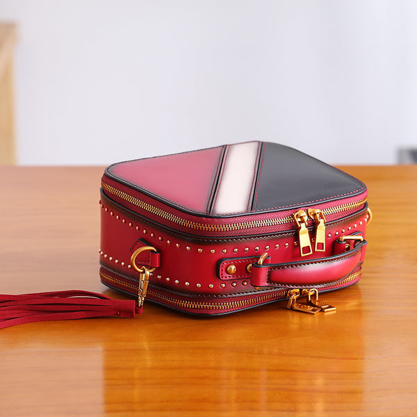 Cube Bag Women Leather Crossbody Bags Shoulder Bag Purses for Women Accessories