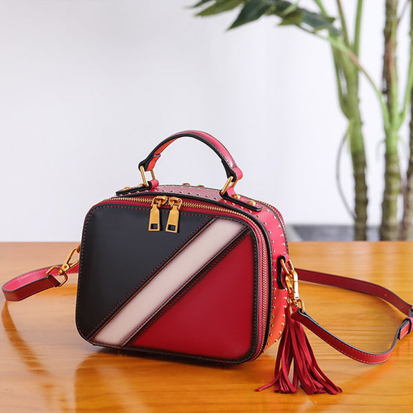 Cube Bag Women Leather Crossbody Bags Shoulder Bag Purses for Women cool