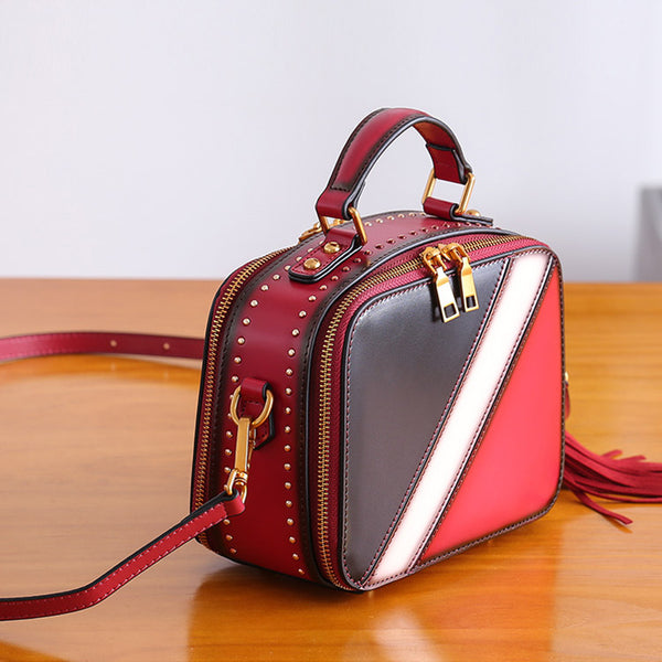 Cube Bag Women Leather Crossbody Bags Shoulder Bag Purses for Women cowhide