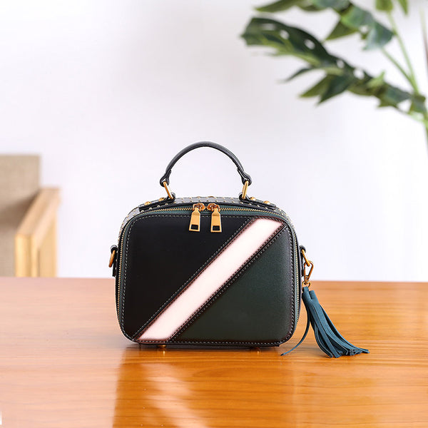 Cube Bag Women Leather Crossbody Bags Shoulder Bag Purses for Women fashion