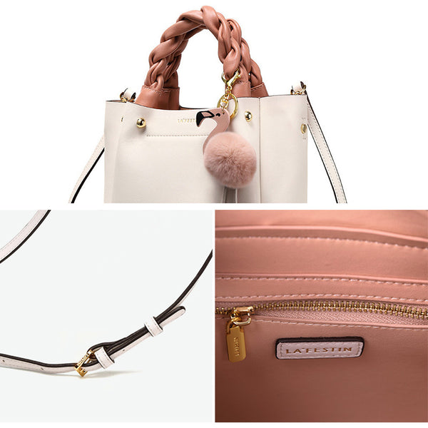 Cute Bucket Bag Womens Leather Handbags Tote Bag Crossbody Bags Details