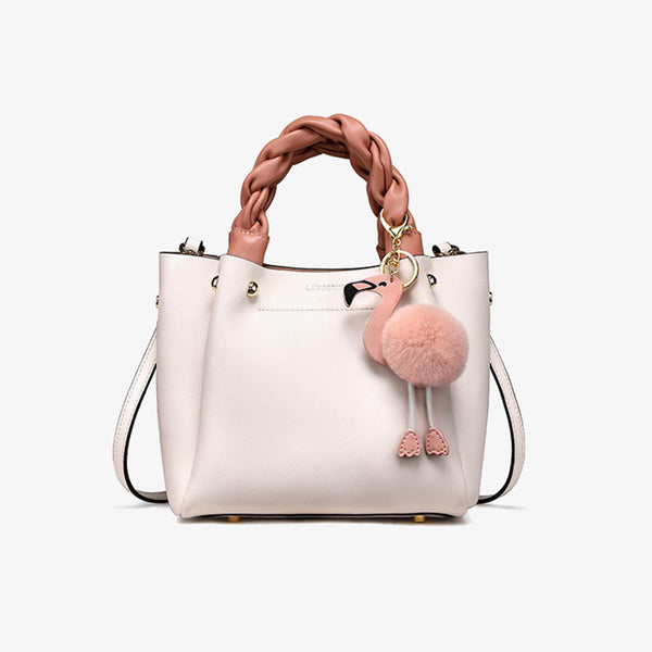 Cute Bucket Bag Womens Leather Handbags Tote Bag Crossbody Bags Genuine Leather