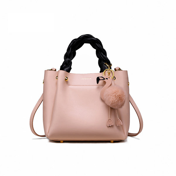 Cute Bucket Bag Womens Leather Handbags Tote Bag Crossbody Bags gift
