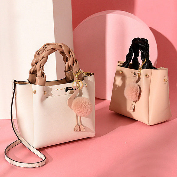 Cute Bucket Bag Womens Leather Handbags Tote Bag