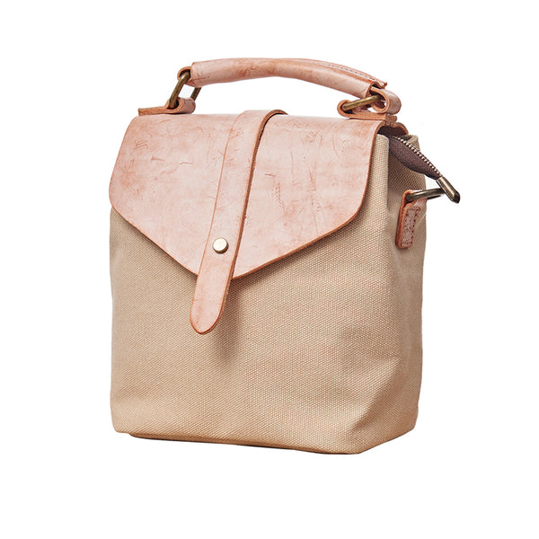 Cute Canvas and Leather Rucksack Backpack Shoulder Handbags for Women Accessories
