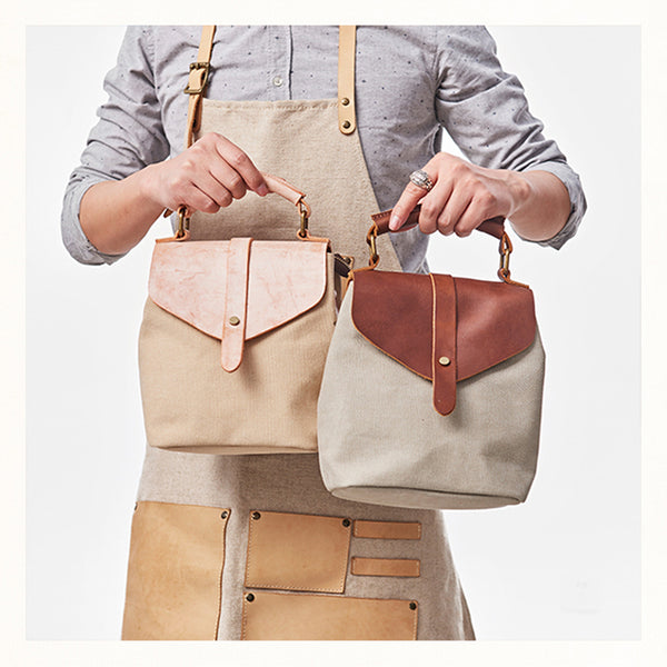 Cute Canvas and Leather Rucksack Backpack Shoulder Handbags for Women Beautiful