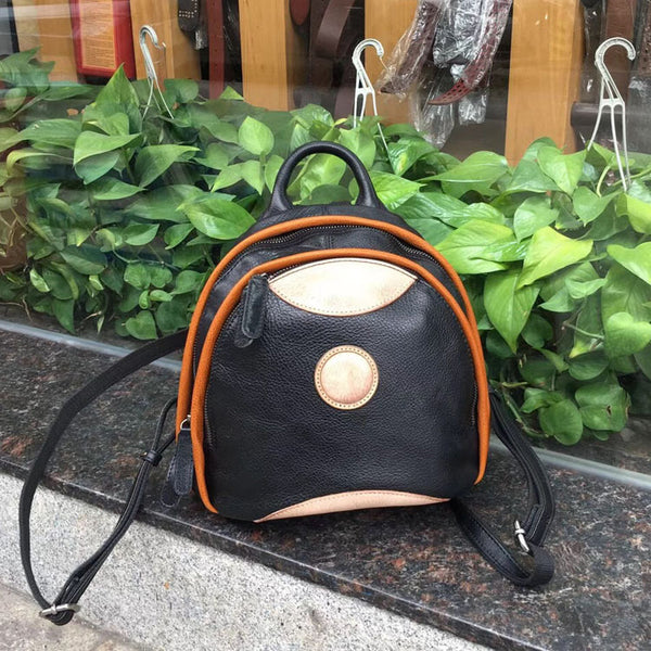 Cute Ladies Genuine Leather Backpack Purse Small Leather Rucksack for Women Best