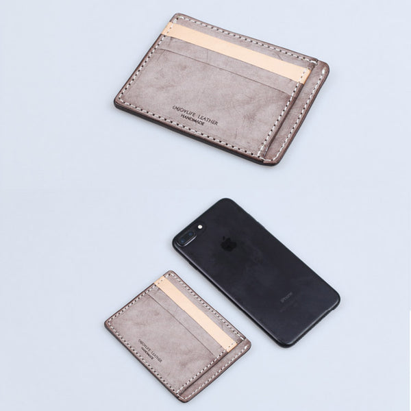Cute Ladies Small Leather Card Holder Wallet Slim Wallets for Women cowhide