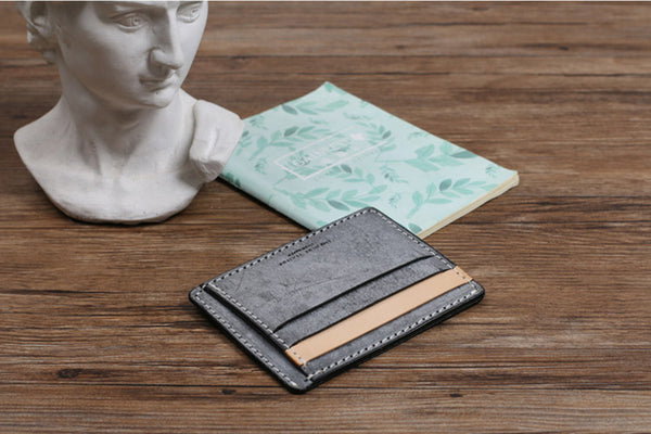 Cute Ladies Small Leather Card Holder Wallet Slim Wallets for Women fashion