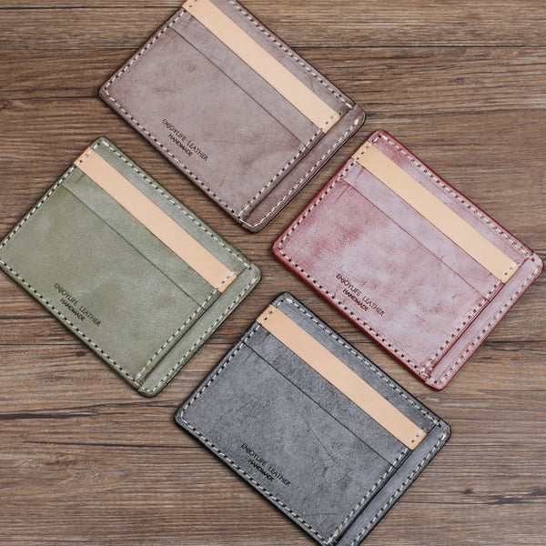 Cute Ladies Small Leather Card Holder Wallet