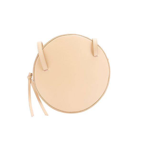 Cute Leather Womens Shoulder Bag Circle Handbags for Women Minimalism