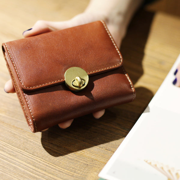 Cute Leather Womens Small Wallet Purse Handmade Clutch for Women Boutique