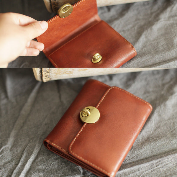 Cute Leather Womens Small Wallet Purse Handmade Clutch for Women Handmade