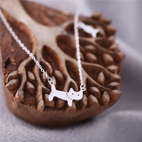 Cute Sterling Silver Pendant Necklace Handmade Jewelry Gifts Accessories for Women