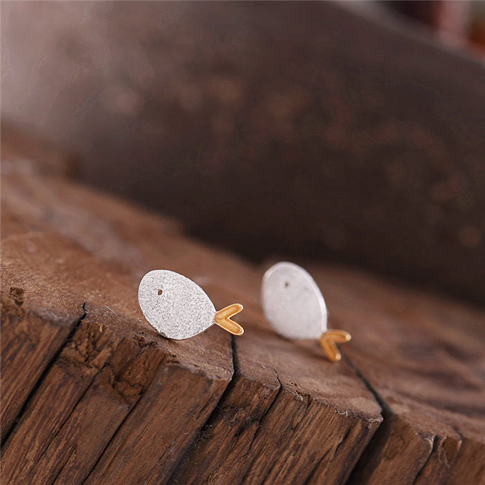 Cute Sterling Silver Stud Earrings Handmade Jewelry Gifts Accessories Women adorable