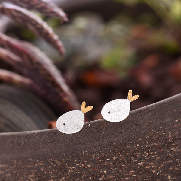Cute Sterling Silver Stud Earrings Handmade Jewelry Gifts Accessories Women beautiful