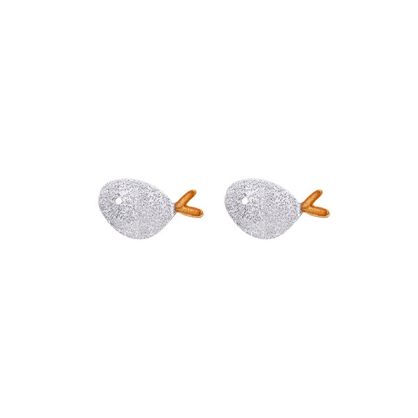 Cute Sterling Silver Stud Earrings Handmade Jewelry Gifts Accessories Women chic