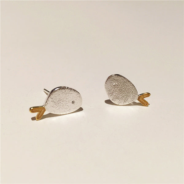 Cute Sterling Silver Stud Earrings Handmade Jewelry Gifts Accessories Women