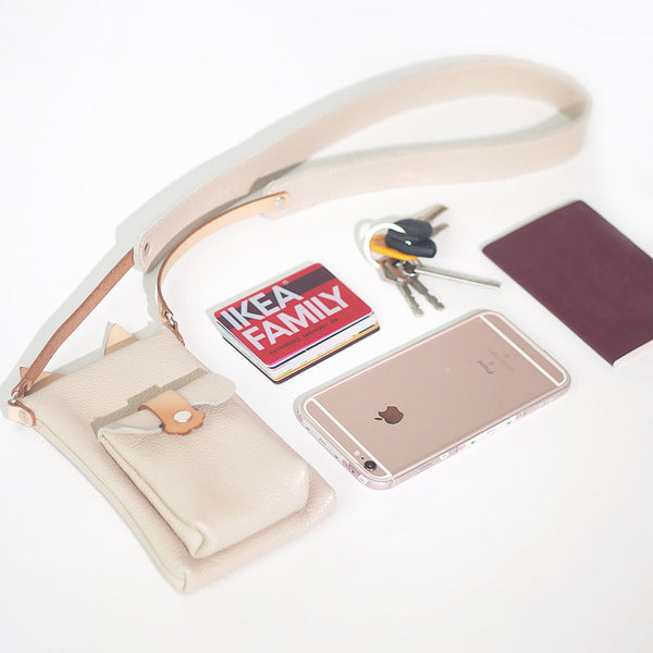 Cute Womens Beige Leather Phone Bag Mini Crossbody Bags Purse for Women Accessories