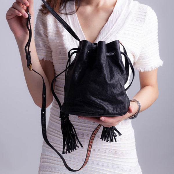 Cute Womens Leather Fringe Crossbody Purse Small Shoulder Bag for Women Funky