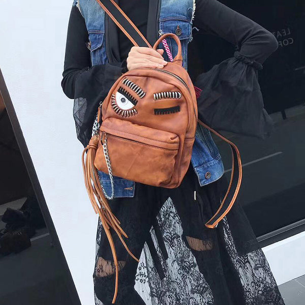 Cute Womens Small Genuine Leather Backpack Purse Trendy Backpacks for Women Details