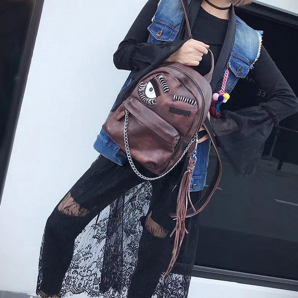 Cute Womens Small Genuine Leather Backpack Purse Trendy Backpacks for Women Durable