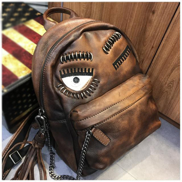 Cute Womens Small Genuine Leather Backpack Purse Trendy Backpacks for Women Gift