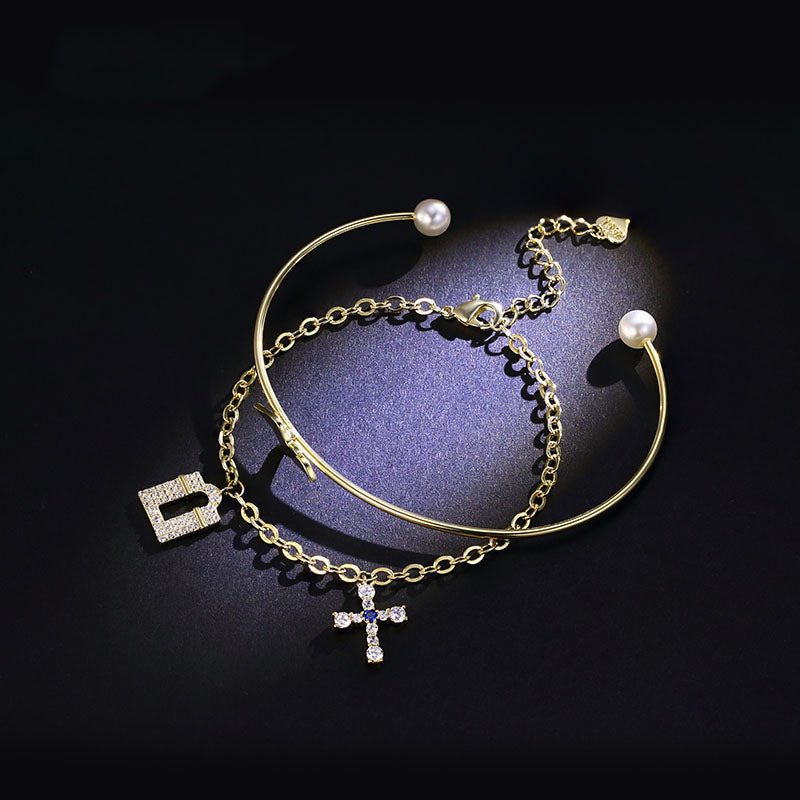 Designer Bangle Bracelet Chic Jewelry Accessories Gift Women elegant