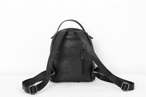 Designer Black Leather Womens Mini Backpack Purse Cute Backpacks for Women Original
