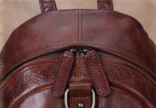 Designer Brown Leather Womens Small Backpack Bag Purse Awesome Backpacks for Women Original
