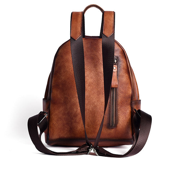 Designer Ladies Small Brown Leather Backpack Purse Bag Backpacks for Women Accessories
