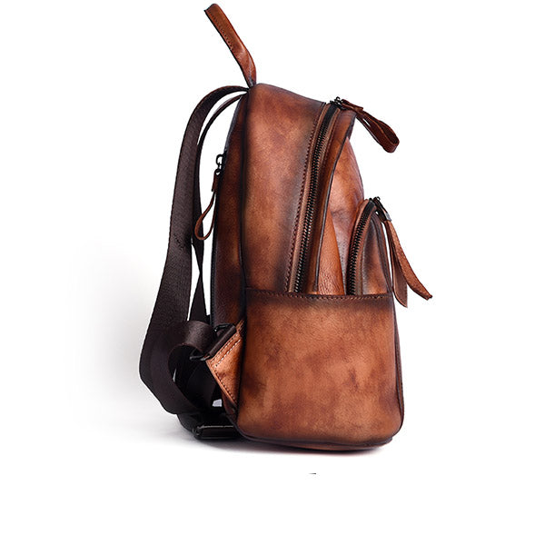 Designer Ladies Small Brown Leather Backpack Purse Bag Backpacks for Women best