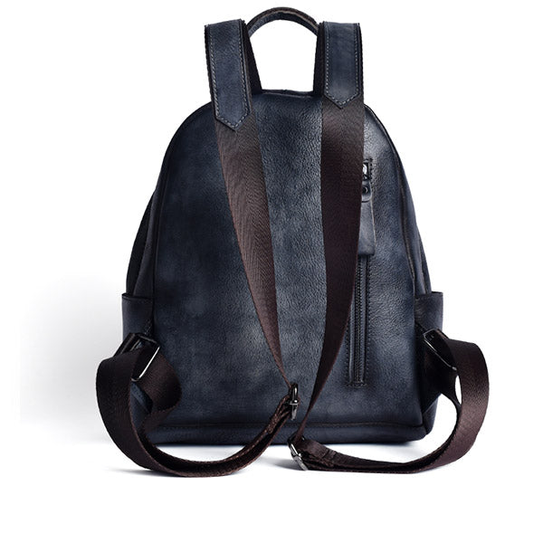 Designer Ladies Small Brown Leather Backpack Purse Bag Backpacks for Women cute