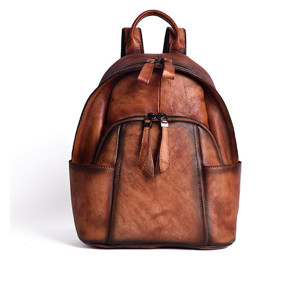 Designer Ladies Small Brown Leather Backpack Purse Bag Backpacks for Women