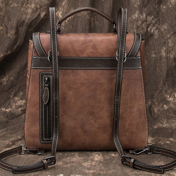 Designer Womens Leather Backpack Purse Shoulder Handbags for Women Cool