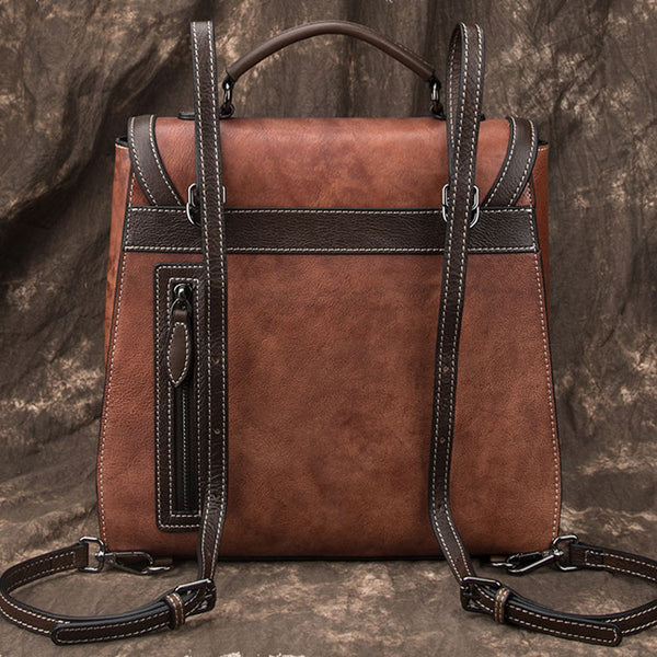Designer Womens Leather Backpack Purse Shoulder Handbags for Women Cute