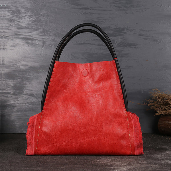Handmade Womens Blue Leather Tote Bags Handbags Purse for Women