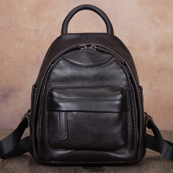 Designer Womens Mini Leather Backpack Bag